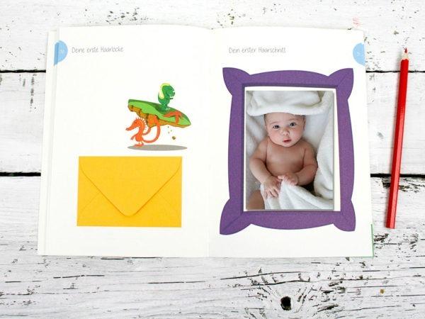 Babyjournal, Tagebuch für die erste Zeit mit Baby, geschlechtsneutrale Illustration, Kleinauflage, klimaneutrale Produktion