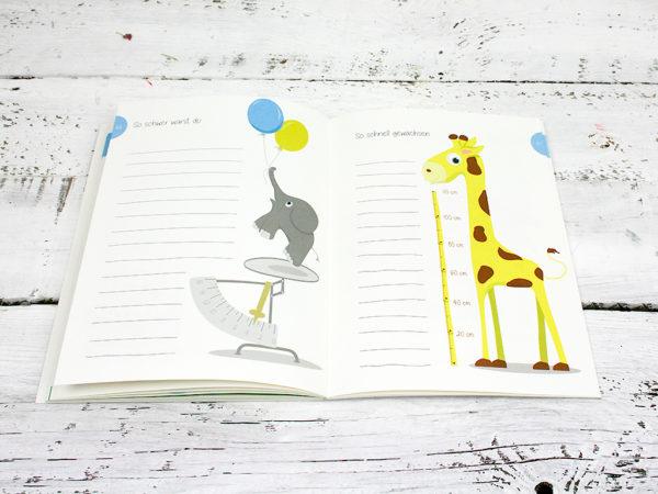 Babyalbum, Babytagebuch, Tagebuch Baby, Fotoalbum baby, Fotoeinsteckalbum, Eintragbuch