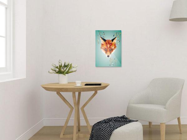 Fuchs Art Print, Tierportrait im Lowpoly-Stil, Illustration von Annika Kuhn, klimaneutral und in Kleinserie produziert