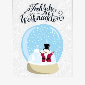 Weihnachtspostkarte, Kinderillustration, Illustration von Annika Kuhn, klimaneutral und in Kleinserie produziert