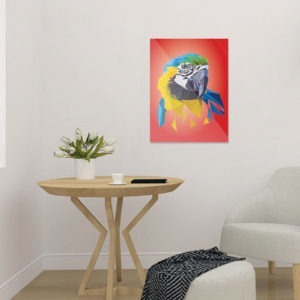 Papagei Art Print, Tierportrait im Lowpoly-Stil, Illustration von Annika Kuhn, klimaneutral und in Kleinserie produziert